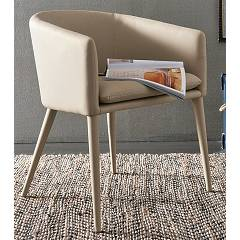 Target Point Pt600 - Baltimora Armchair covered in eco-leather