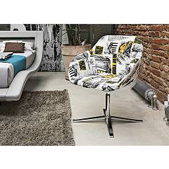 Target Point PT100 - CITYMAP Swivel chair metal / fabric