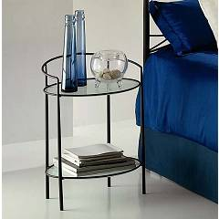 Target Point Lulu Bedside in iron and glass