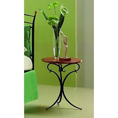 sale Target Point Lisa Bedside Table In Iron And Glass / Wood
