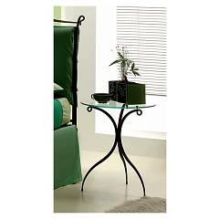 sale Target Point Susy Bedside Table In Iron And Glass / Wood