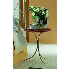 sale Target Point Sara Bedside Table In Iron And Glass / Wood
