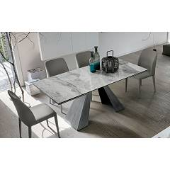 Target Point Taurus Extendable table l. 180 x 90 - painted metal structure | brushed and top / extensions in porcelain stoneware