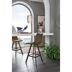 Target Point Maiorca Plus Stool - painted metal structure with oblique legs and seat in soft touch vintage eco-leather