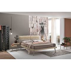 Target Point Corfu' Plus Upholstered single bed with removable cover | square and a half | matrimonial - with | offline