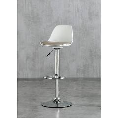 Target Point Stoccolma Swivel and adjustable stool - metal frame and polypropylene seat | soft touch eco-leather