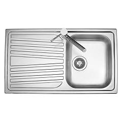 Telma Co08612 - Olympus Kitchen sink built-86 x 50 - satin stainless steel 1 bowl right drainer Olympus