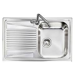 Telma Co07912 Recessed sink 79 x 50 - satined stainless steel 1 right tank - drainer Olympus