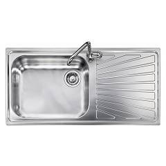 Telma Vi10011 Built-in sink 100 x 50 - satin stainless steel 1 left bathtub - drainer Vintage