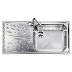 Telma Vi10012 Recessed sink 100 x 50 - satined stainless steel 1 right tank - drainer Vintage