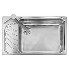 Telma Vi08612 Built-in sink 86 x 50 - satined stainless steel 1 drainer - drainer Vintage