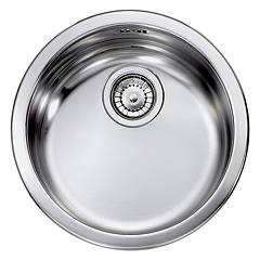 sale Telma Lisp000431s - Refresh Sink Recessed D. 43,5 - Satin Stainless Steel Round Single Tank