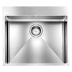 Telma Sr05700 Semifileous sink 57 x 50 - satin stainless steel 1 bowl Maki Slim R