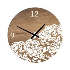 Tomasella Clock 671 Design wanduhr 45 cm - holz Clock Collection