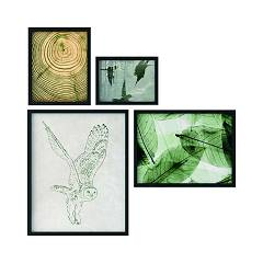 Tomasella Natural Style S Set of 4 paintings 87 l x 87 h