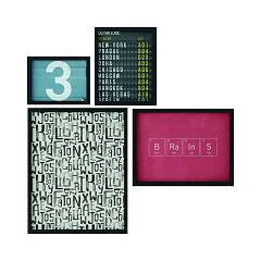 Tomasella Colors Style S Set of 4 paintings 87 l x 87 h