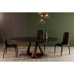 Tonin Casa Rizoma 6907fs E Fixed oval table l. 220 x 120