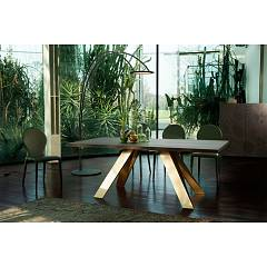 Tonin Casa Celtis 8084fs / 8084fm G Fixed table l. 240 x 120 - shaped
