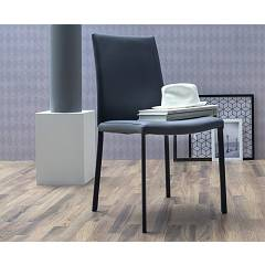 Tonin Casa Navarra 7266 Chair covered in eco-leather / leather