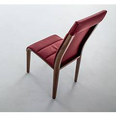 Photos 2: Tonin Casa PORTOFINO 7218 Chair in wood and eco-leather / leather