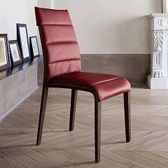 Tonin Casa Portofino 7218 Chair in wood and eco-leather / leather