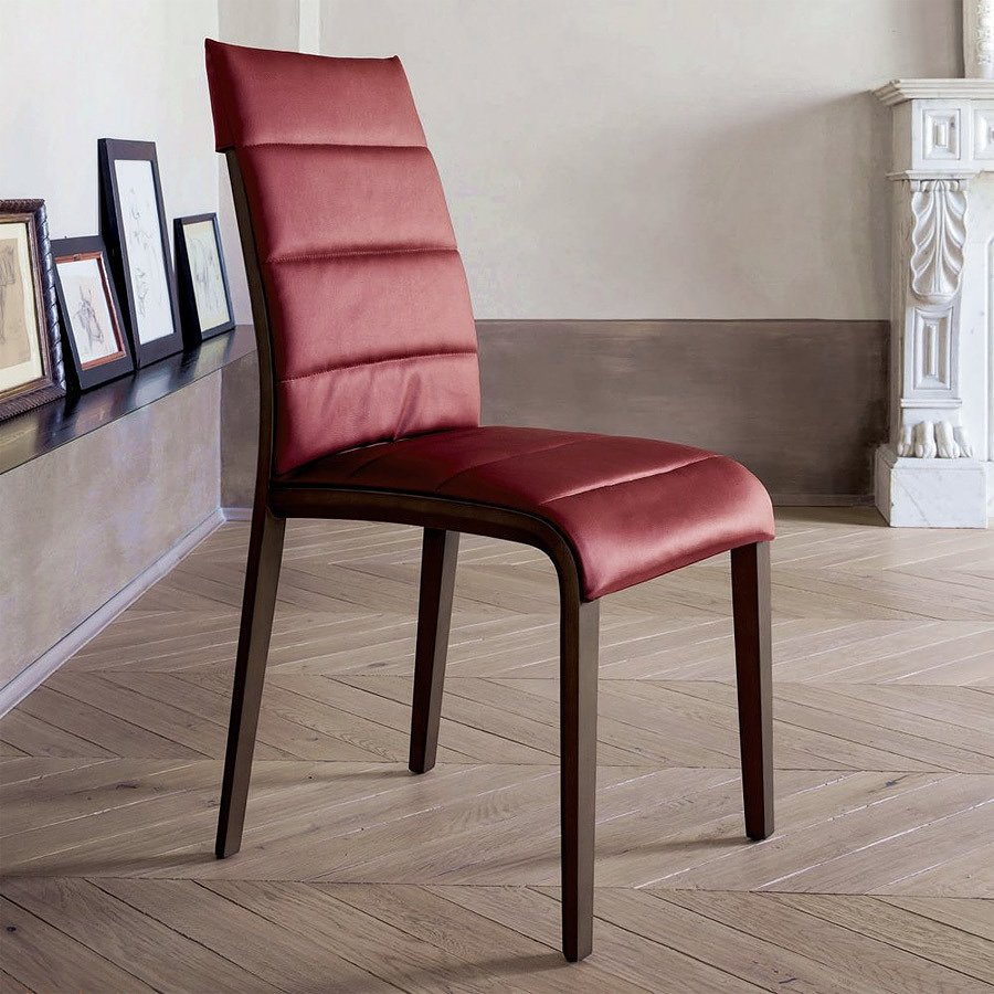 Photos 1: Tonin Casa PORTOFINO 7218 Chair in wood and eco-leather / leather