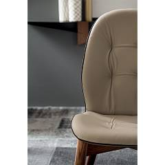 Photos 3: Tonin Casa SORRENTO 8043 Chair in wood and eco-leather / leather