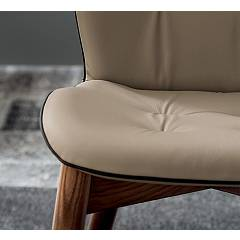 Photos 4: Tonin Casa SORRENTO 8043 Chair in wood and eco-leather / leather