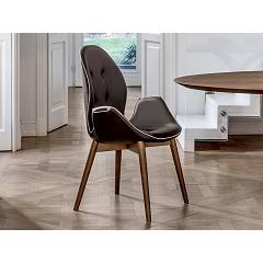 Tonin Casa Sorrento 8043b Wooden and eco-leather armchair