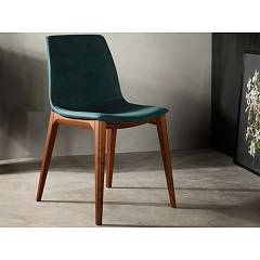 Tonin Casa Aralia 7219 Chair in wood and eco-leather / leather