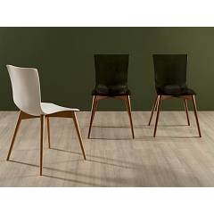 Tonin Casa Aria Wood 7225 Wooden and plastic chair