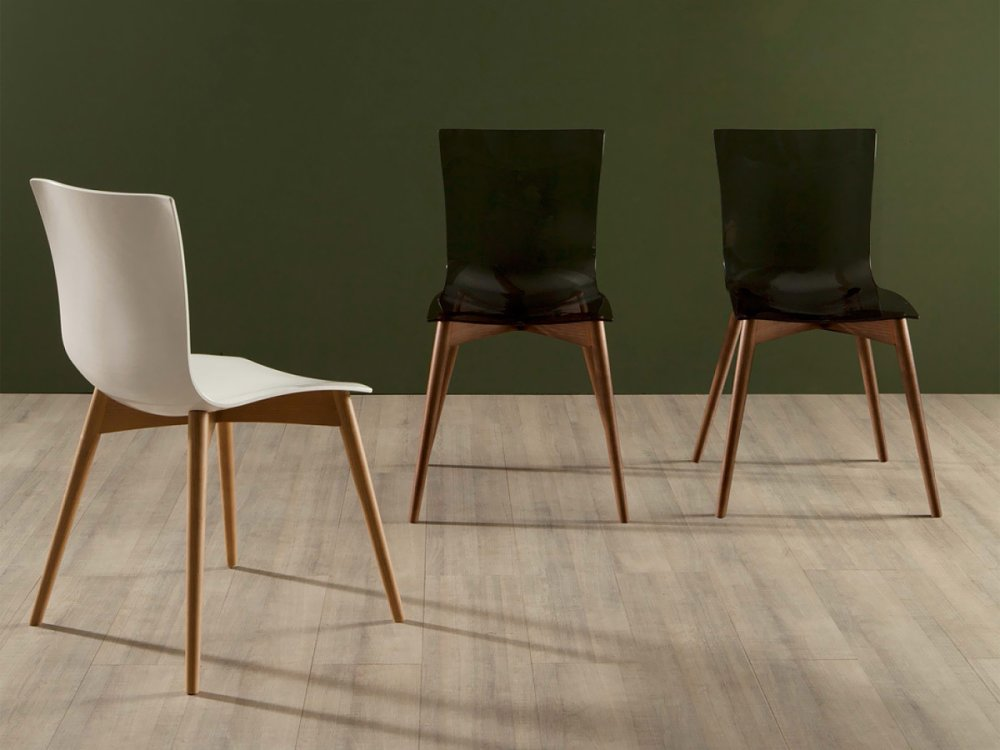Photos 1: Tonin Casa ARIA WOOD 7225 Wooden and plastic chair
