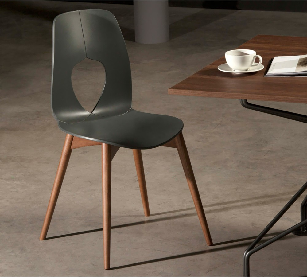 Photos 1: Tonin Casa HOLE WOOD 7227 Wooden and plastic chair