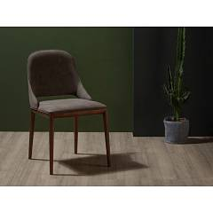 Tonin Casa Malva 7221 Chair in wood and eco-leather / leather