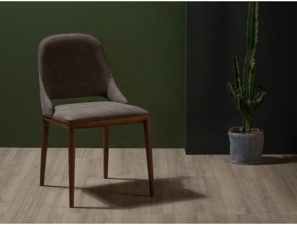 Photos 1: Tonin Casa MALVA 7221 Chair in wood and eco-leather / leather