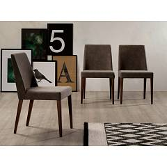 Tonin Casa Sam 7226 Chair in wood and fabric / eco-leather / leather