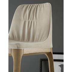 Photos 2: Tonin Casa MIVIDA 6318 Stool in wood and eco-leather / leather