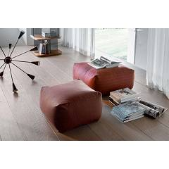 Tonin Casa Truly 7301 Pouf quadro in eco-leather
