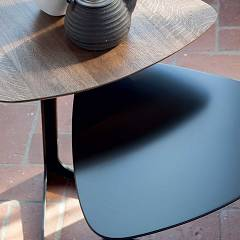 Photos 2: Tonin Casa CELINE 6021 Table in metal and wood l. 44 x 42 h.55