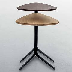 Photos 4: Tonin Casa CELINE 6021 Table in metal and wood l. 44 x 42 h.55