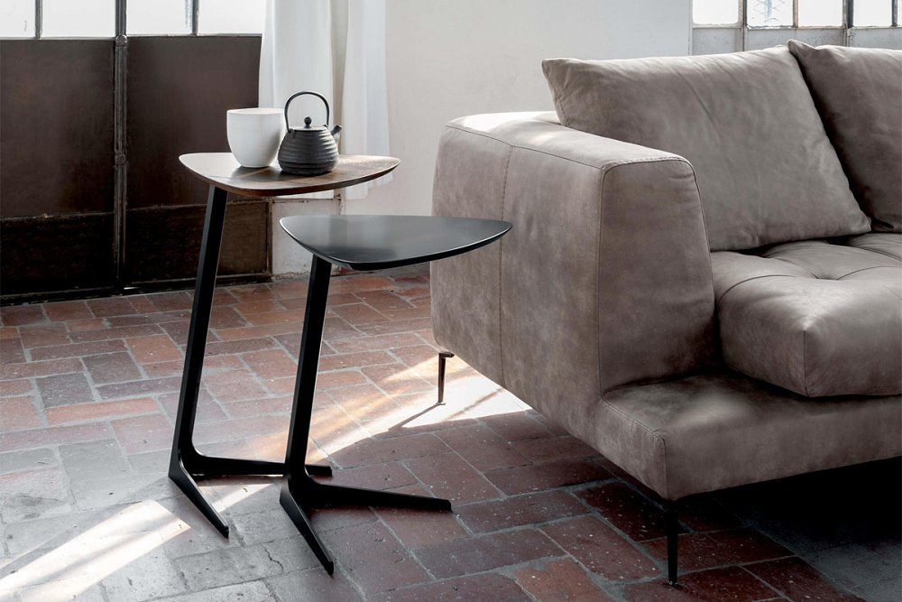 Photos 1: Tonin Casa CELINE 6021H Table in metal and wood l. 44 x 42 h.65