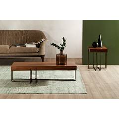 Photos 2: Tonin Casa CRUZ 6878 Table in metal and wood l. 122 x 42