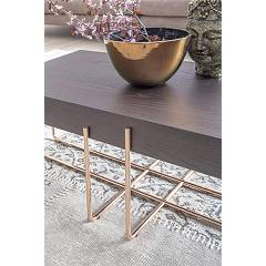 Photos 4: Tonin Casa CRUZ 6878 Table in metal and wood l. 122 x 42