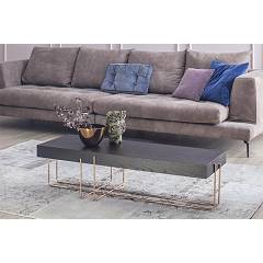 Tonin Casa Cruz 6878 Table in metal and wood l. 122 x 42
