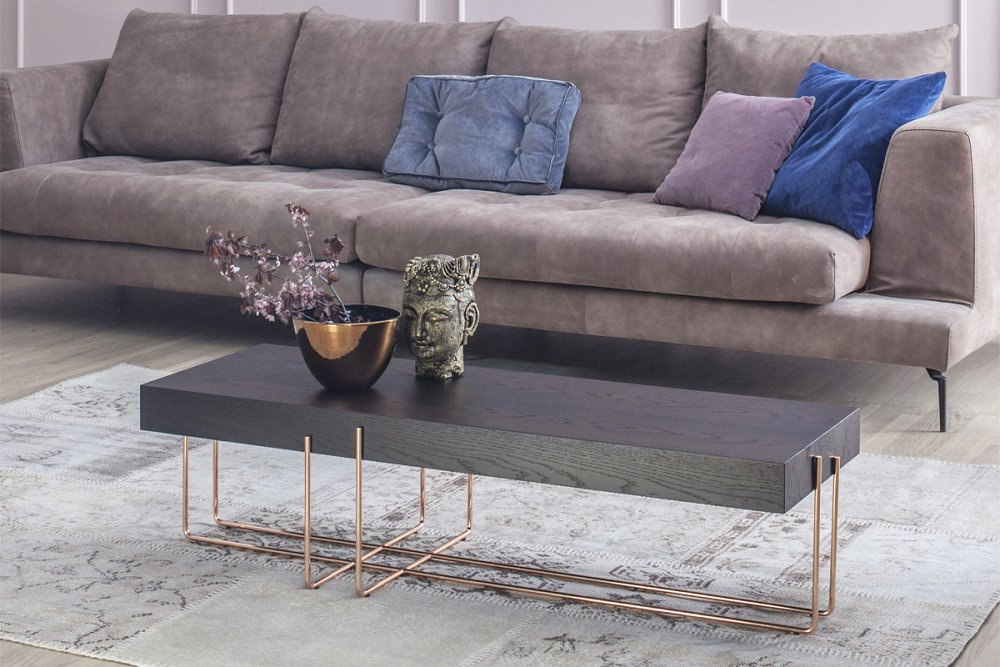 Photos 1: Tonin Casa CRUZ 6878 Table in metal and wood l. 122 x 42