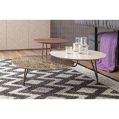 Tonin Casa Log 6019 Coffee table plans staggered l. 105 x 100