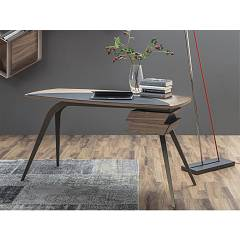 Tonin Casa Logos 7005 Desk in metal and wood l. 135 x 53