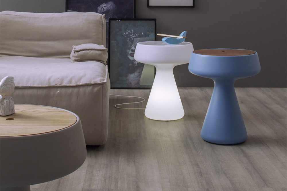 Photos 1: Tonin Casa MAKI 6234L Coffee table in polyethylene d. 42 with light