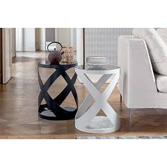 Tonin Casa Rimini 6233 Round side table d. 39 with marble base
