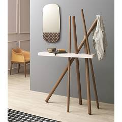 Tonin Casa Wood 7419 Wood hangers with shelf